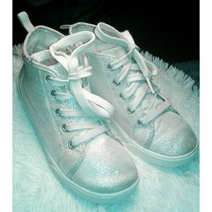 Carter's Silver Glitter Shoes